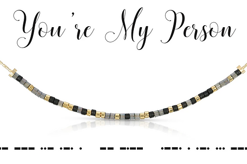 You're My Person Morse Code Necklace