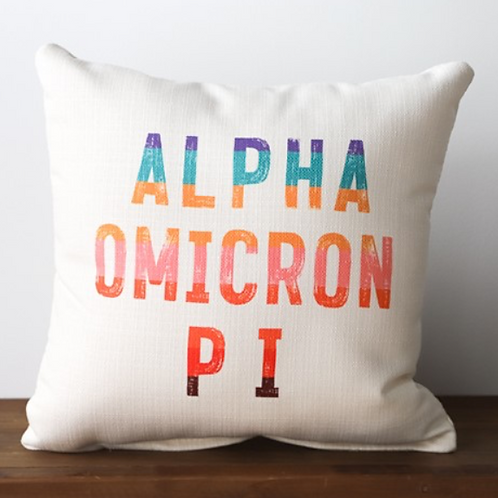 Alpha Omicron Pi Stripe Pillow