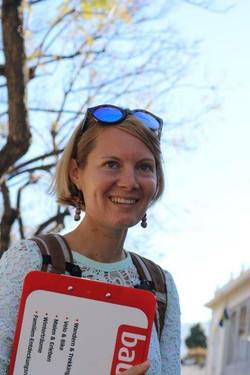 Reiseleiterin  Sarah Leuenberger