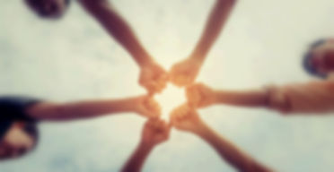 Circle shape hand of team abstract blur