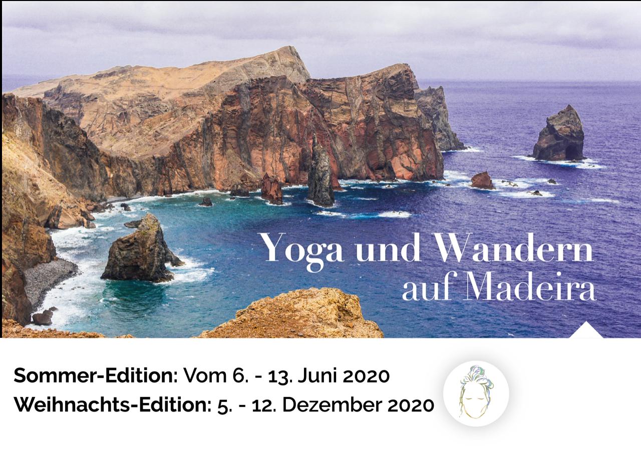 Flyer Yoga&Wandern auf Madeira 2020