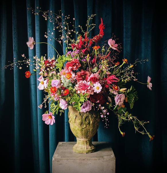 Arrangment Featuring Garden Party Flower Farm