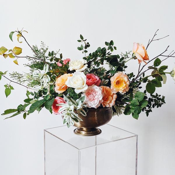 Arrangement featuring Palatine Roses