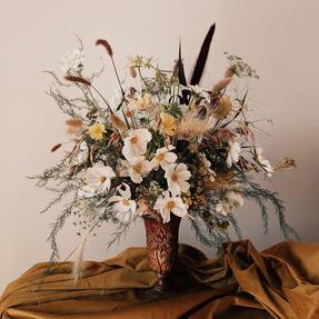 Arrangment Featuring Floral Grey