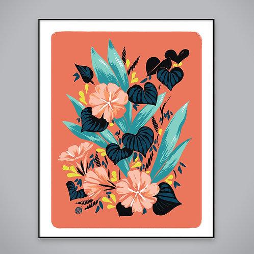 coral glories • art print
