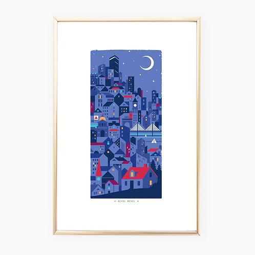 City Lights • art print