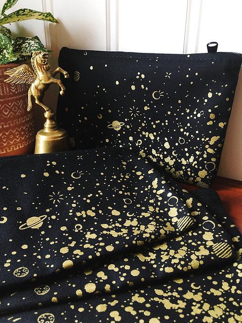space splatter • zipper pouch