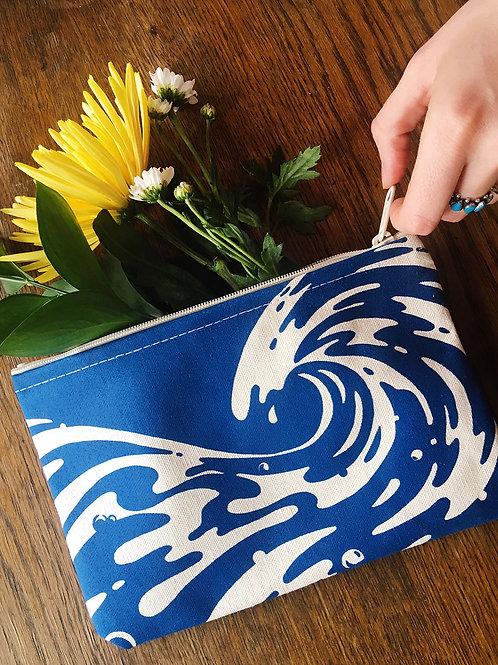 tidal wave • zipper pouch