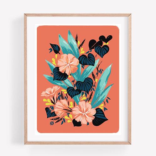 coral glories • print