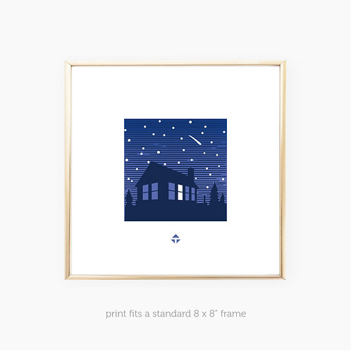Tiny House by Toby • art print