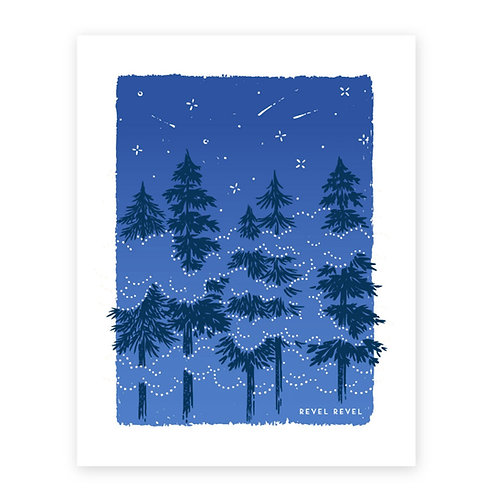 Misty Pines • art print