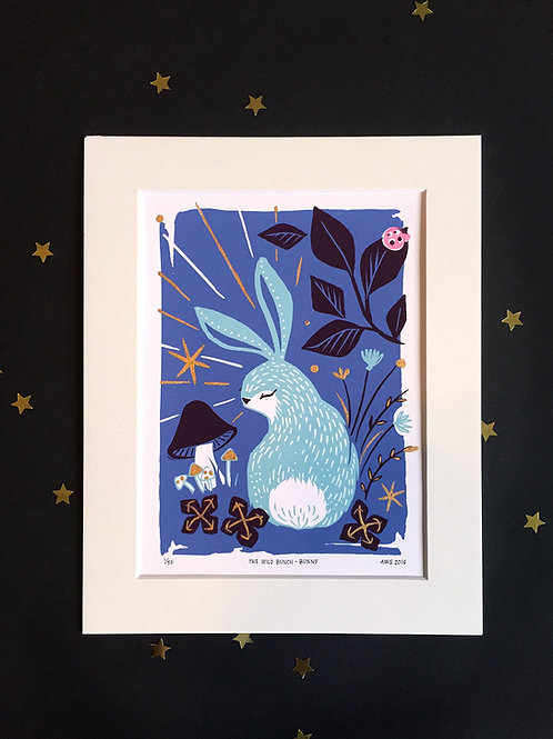 Wild Bunch Bunny • Ltd Ed. embellished art print