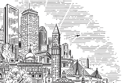 Boston Landmarks • art print