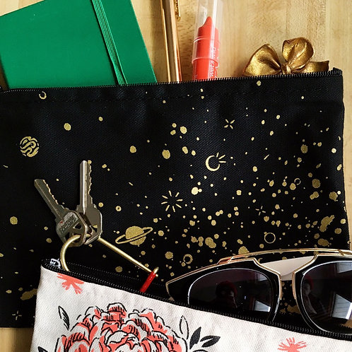 space splatter • zipper pouch