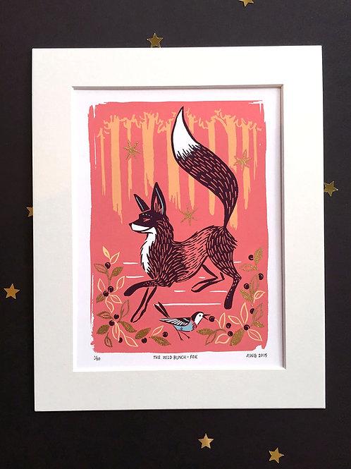 Wild Bunch Fox • Ltd Ed. embellished art print