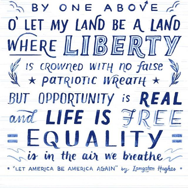 Equality is in the air we breathe__#langstonhughes #letamericabeamericaagain