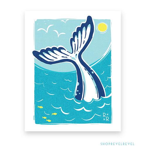 Waving Whale • print