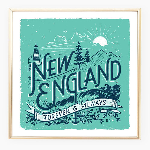 New England • art print