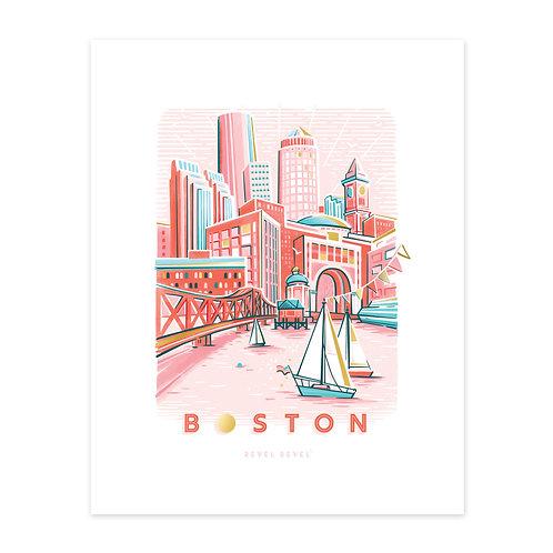 Boston Rosé Harbor • ltd ed. art print