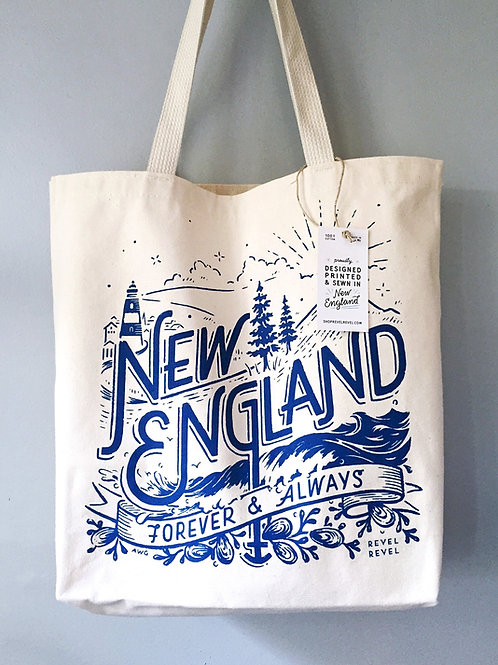 New England • tote bag