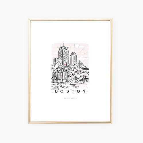 Boston Rosé • art print
