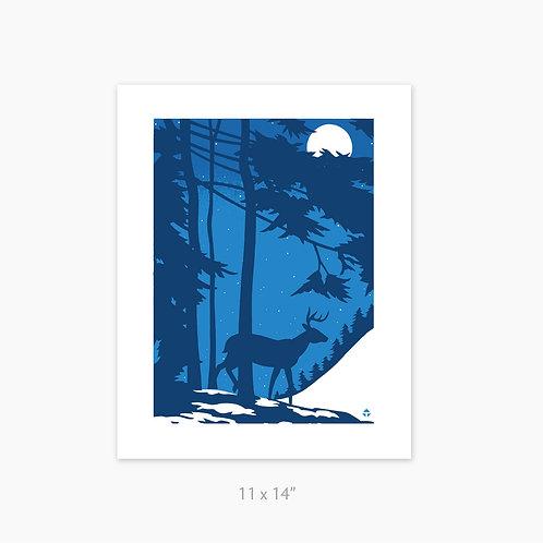 Winter Deer by Toby • art print