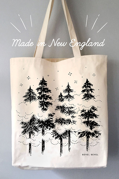 Misty Pines • tote bag