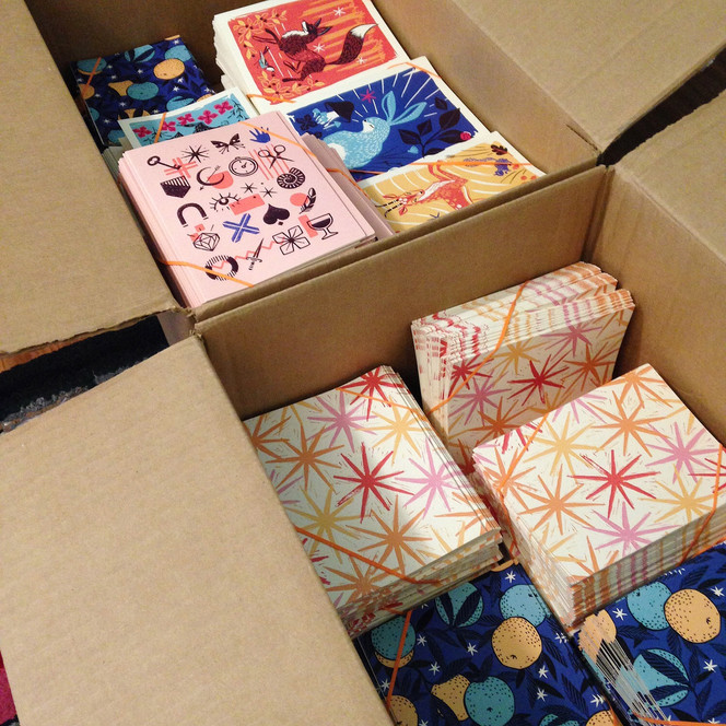 Our first shipment of cards!