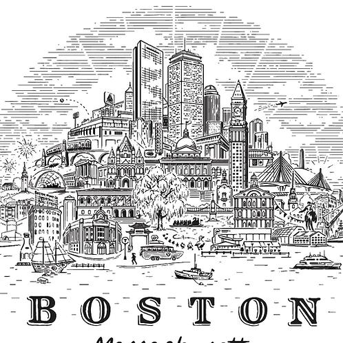 Boston Landmarks • print