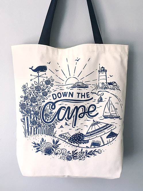 Down the Cape • tote bag