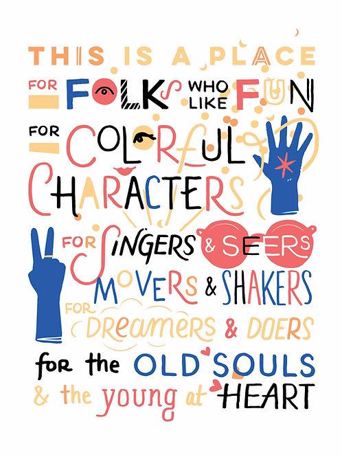 Folks • Ltd Ed. art print