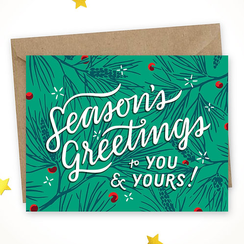 Season's Greetings – pine