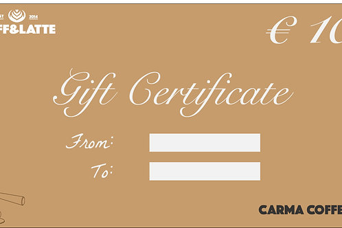 10 € GIFT CERTIFICATE