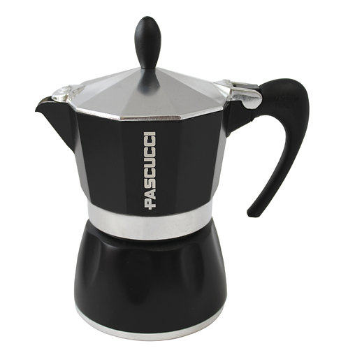 MOKA COFFEE POT 3 CUPS BLACK