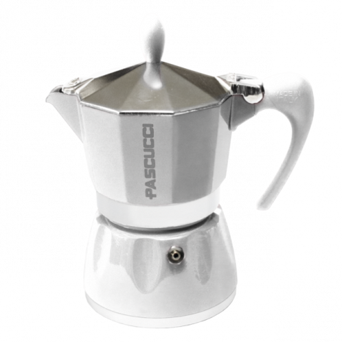 MOKA COFFEE POT 6 CUPS WHITE