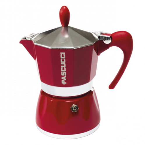 MOKA COFFEE POT 6 CUPS RED