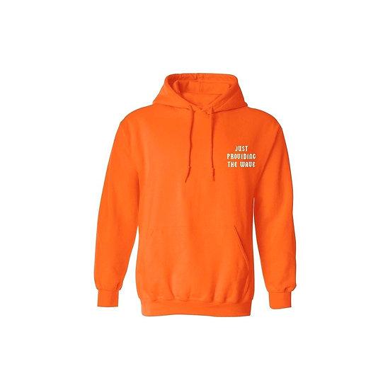 """Orange """"WAVE"""" Hoodie"""