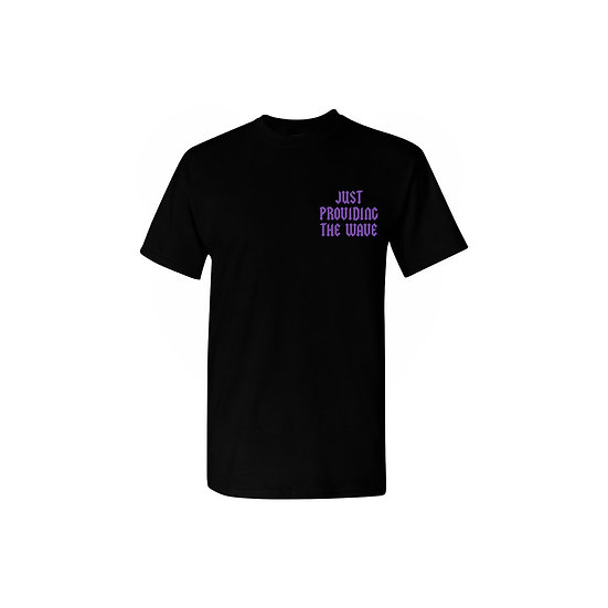 """Purple and Black """"WAVE"""" T-shirt"""