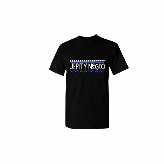 "Blue and White ""Uppity Negro"" T-shirt"