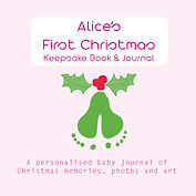 ALICE Baby's First Christmas Cover PINK