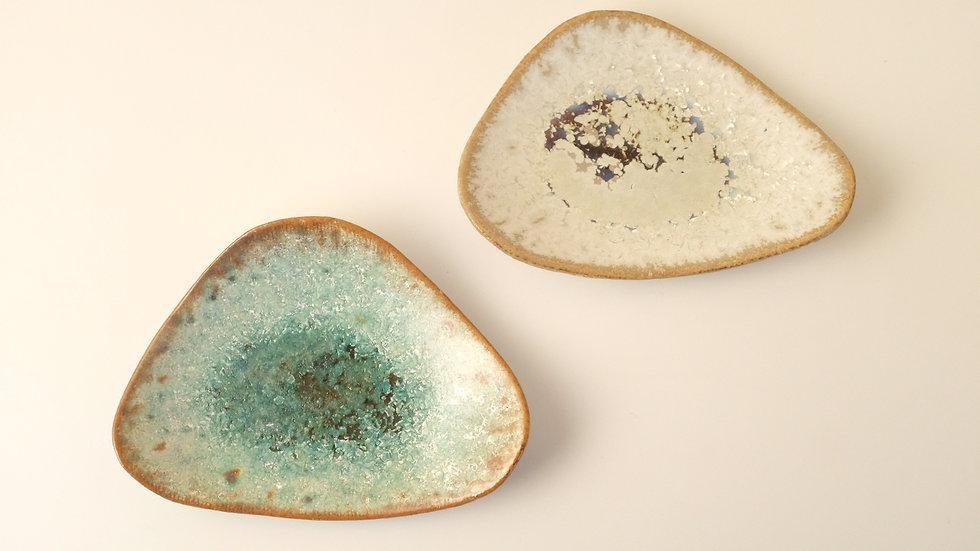 おにぎり皿(二枚組・秋銀河と冬銀河)
