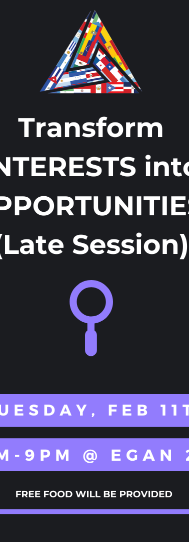 Tranform Interests Into Opportunities - Late Session