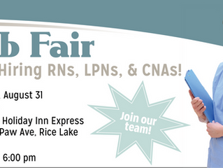 Job Fair in Rice Lake