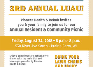 Join us for the 3rd Annual Luau, August 24th!