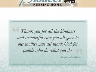 We always appreciate a kind word!