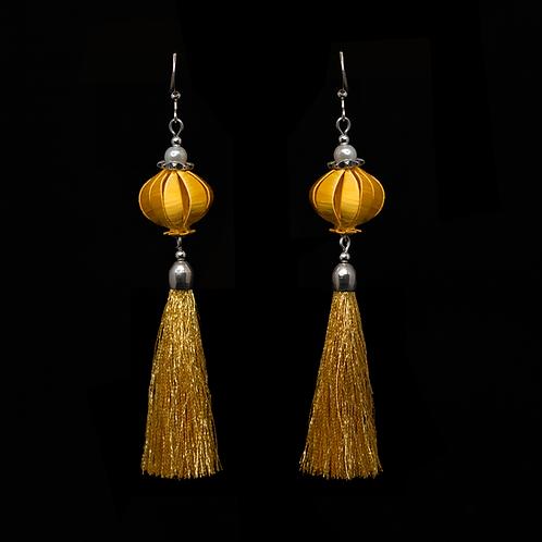 Fuchsia Earrings - Golden Crown