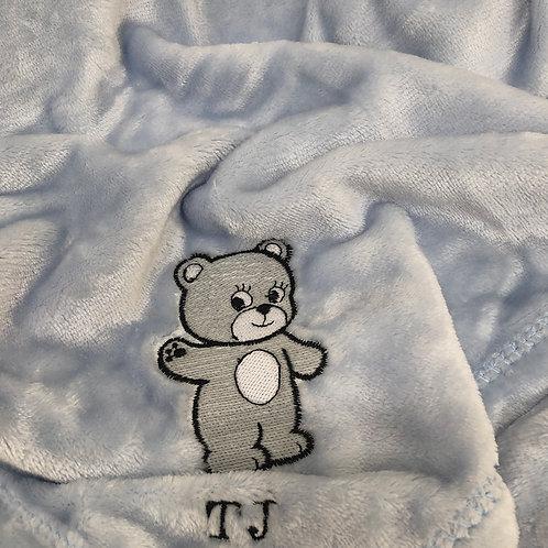 Super Soft Personalized Baby Blanket w/ Glow in the Dark Thread