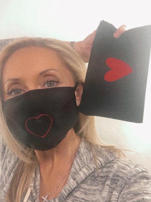 Heart Mask and Canvas Bag Set