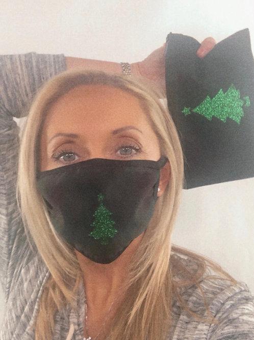 Christmas Tree Mask and Canvas Bag Set