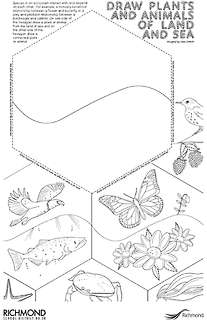 DRAW PLANTS AND ANIMALS OF LAND AND SEA